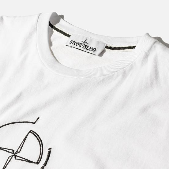 Мужская футболка Stone Island 7215 Graphic Seven White
