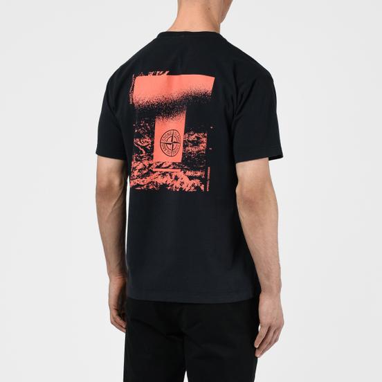 Мужская футболка Stone Island 7215 Graphic Two Navy Blue