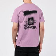 Мужская футболка Stone Island 7215 Graphic Two Quartz Pink фото- 4