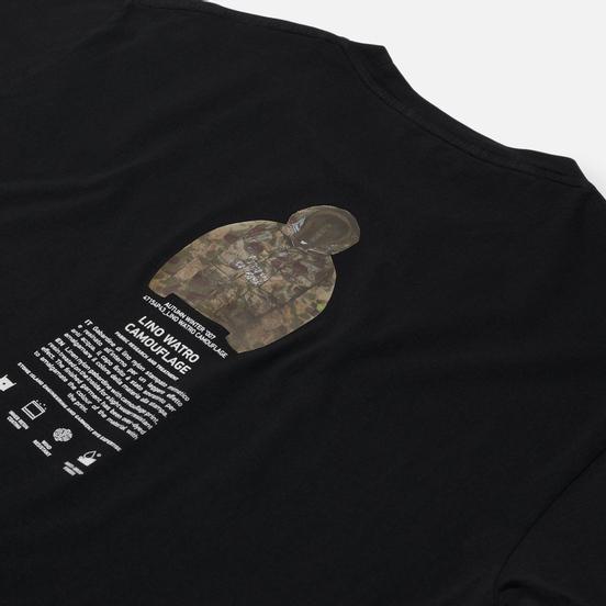 Мужская футболка Stone Island Archivio Project Lino Watro Camouflage Black