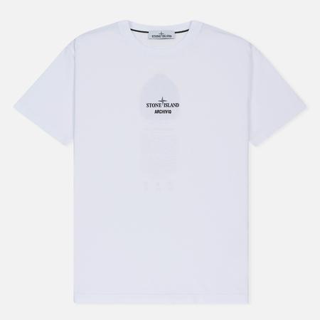 Мужская футболка Stone Island Archivio Project Radiale Esploso White