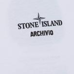 Мужская футболка Stone Island Archivio Project Radiale Esploso White фото- 2