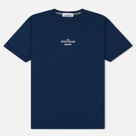 Мужская футболка Stone Island Archivio Project Tela Stella Marine Blue