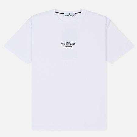 Мужская футболка Stone Island Archivio Project Tela Stella White