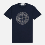 Мужская футболка Stone Island Check Pin Marine Blue фото- 0