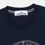 Мужская футболка Stone Island Check Pin Marine Blue фото- 1