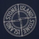 Мужская футболка Stone Island Check Pin Marine Blue фото- 2