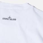 Мужская футболка Stone Island Check Pin White фото- 3