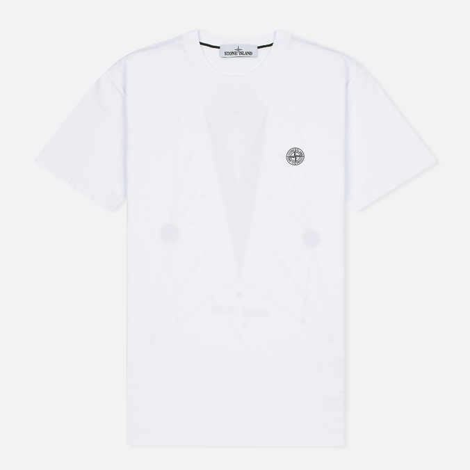 Мужская футболка Stone Island Constellation Abstract White