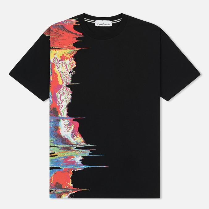Мужская футболка Stone Island Digital Graph Black