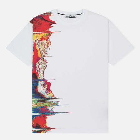Мужская футболка Stone Island Digital Graph White