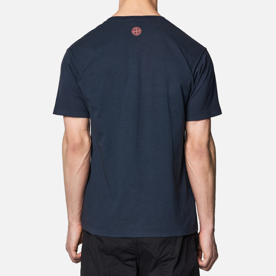 Мужская футболка Stone Island Drone Three Navy Blue