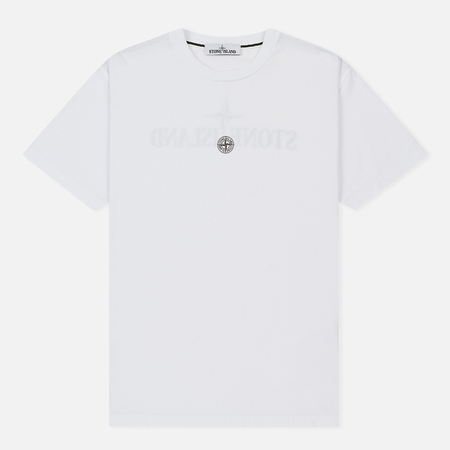 Мужская футболка Stone Island Graphic Eleven White