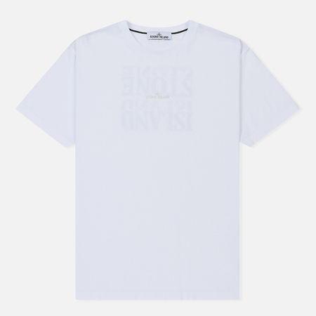 Мужская футболка Stone Island Graphic Logo White