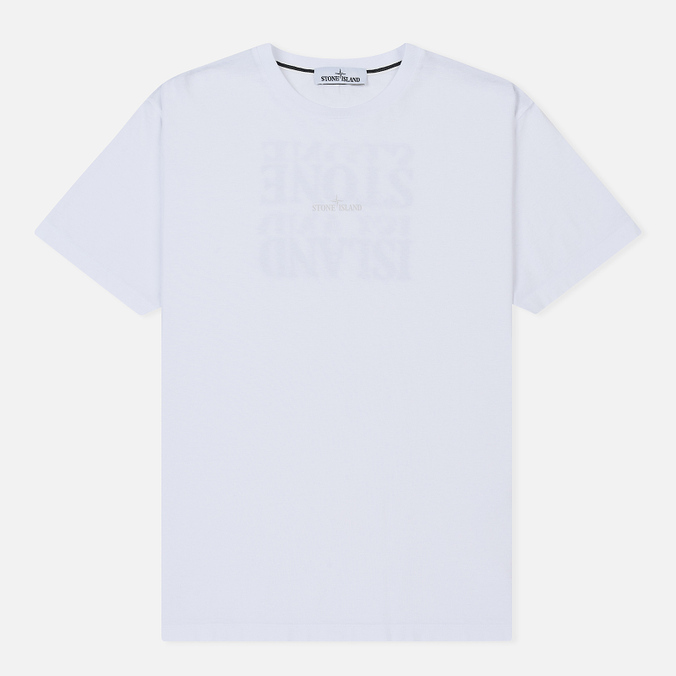 Мужская футболка Stone Island Graphic Logo White