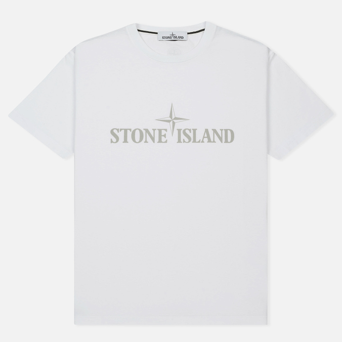 Мужская футболка Stone Island Institutional White