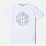 Мужская футболка Stone Island Check Pin White фото- 0
