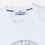 Мужская футболка Stone Island Check Pin White фото- 1
