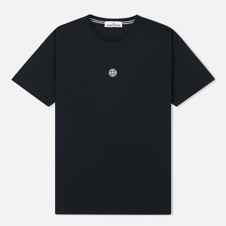 Мужская футболка Stone Island Logo Print Crew Neck Black