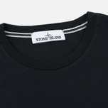 Мужская футболка Stone Island Logo Print Crew Neck Black фото- 1
