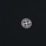 Мужская футболка Stone Island Logo Print Crew Neck Black фото- 2