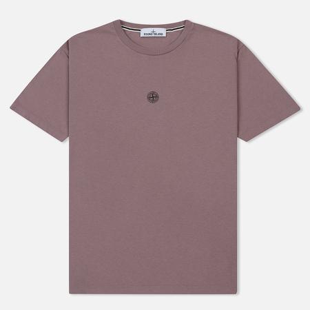 Мужская футболка Stone Island Logo Print Crew Neck Pink Quartz