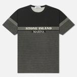 Мужская футболка Stone Island Marina Corrosion Print Black фото- 0