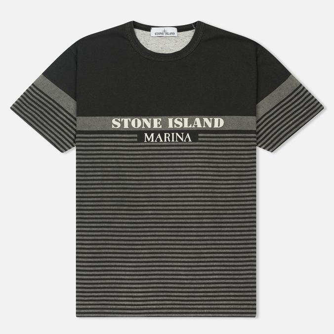 Мужская футболка Stone Island Marina Corrosion Print Black