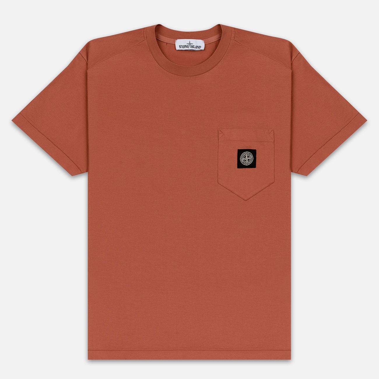 Мужская футболка Stone Island Pocket Patch Rust