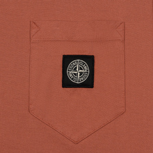 Мужская футболка Stone Island Pocket Patch Rust фото- 2