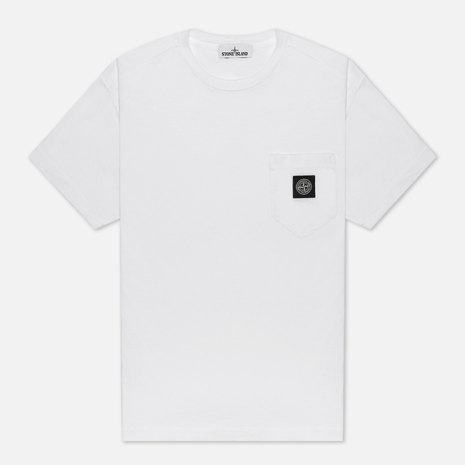 Мужская футболка Stone Island Pocket Patch White