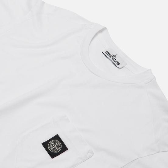Мужская футболка Stone Island Pocket Patch White