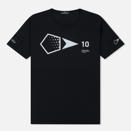 Мужская футболка Stone Island Shadow Project 10th Anniversary Print Graphic Black