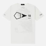 Мужская футболка Stone Island Shadow Project 10th Anniversary Print Graphic Natural White фото- 0
