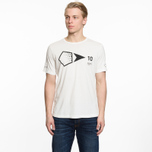 Мужская футболка Stone Island Shadow Project 10th Anniversary Print Graphic Natural White фото- 5