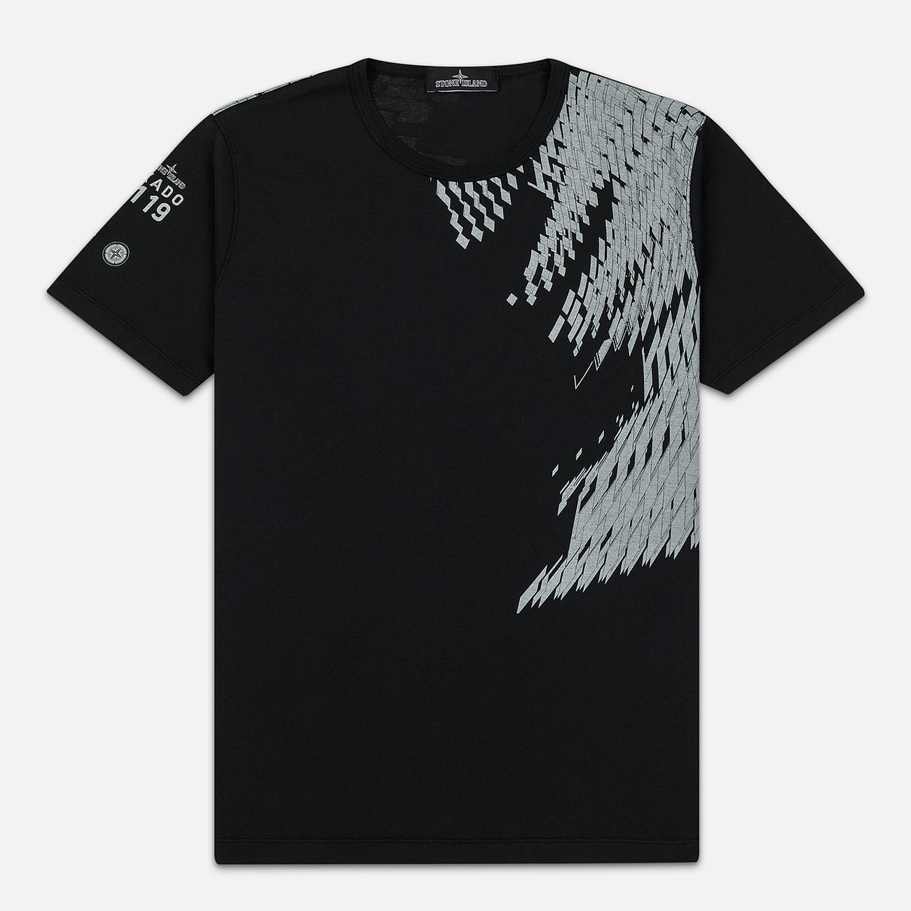 Мужская футболка Stone Island Shadow Project 7119 Print Black