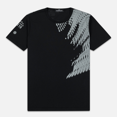 Мужская футболка Stone Island Shadow Project 7119 Print Black
