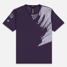 Мужская футболка Stone Island Shadow Project 7119 Print Indigo фото- 0