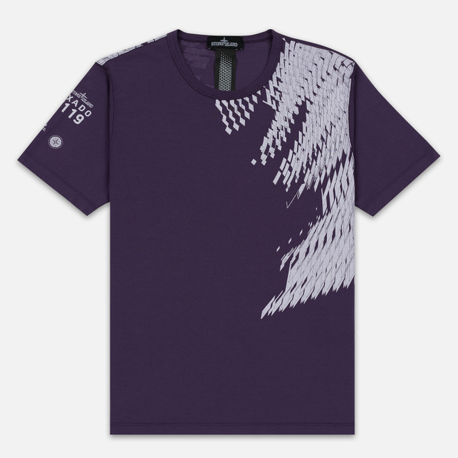 Мужская футболка Stone Island Shadow Project 7119 Print Indigo