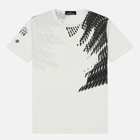 Мужская футболка Stone Island Shadow Project 7119 Print Natural White