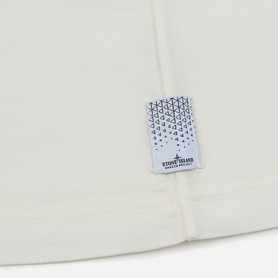 Мужская футболка Stone Island Shadow Project 7119 Print Natural White