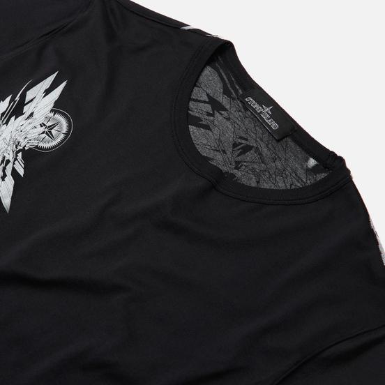 Мужская футболка Stone Island Shadow Project 7219 CXADO Print Black