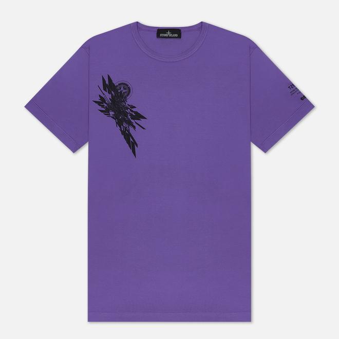 Мужская футболка Stone Island Shadow Project 7219 CXADO Print Lavender