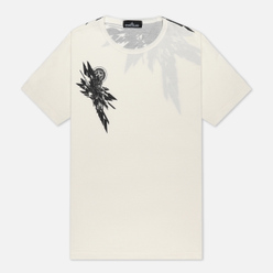 Мужская футболка Stone Island Shadow Project 7219 CXADO Print Natural White