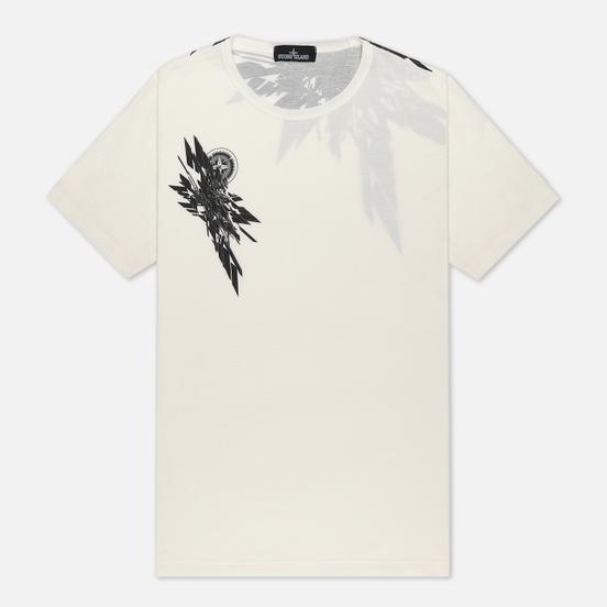 Мужская футболка Stone Island Shadow Project 7219 CXADO Print Natural White