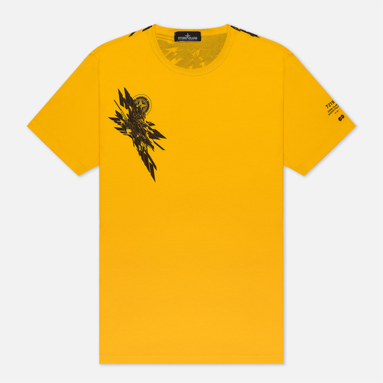 Мужская футболка Stone Island Shadow Project 7219 CXADO Print Yellow