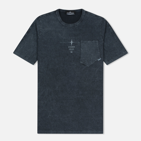 Мужская футболка Stone Island Shadow Project Catch Pocket Anthracite