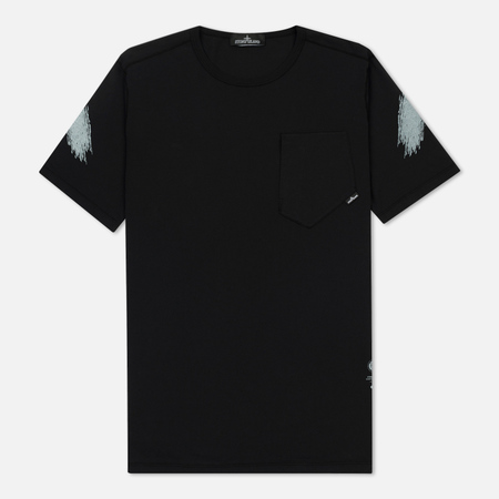 Мужская футболка Stone Island Shadow Project Catch Pocket Black