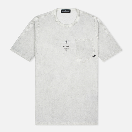 Мужская футболка Stone Island Shadow Project Catch Pocket Grey