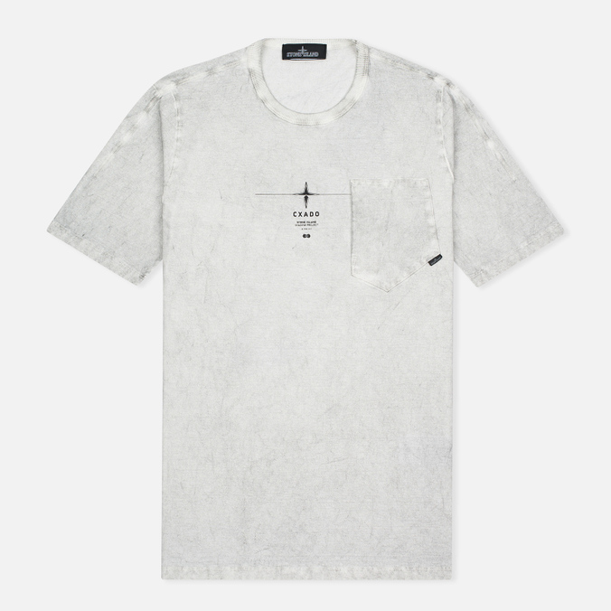 Мужская футболка Stone Island Shadow Project Catch Pocket Grey